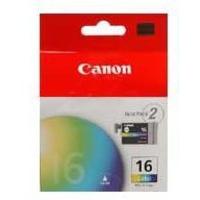 Canon BCI-16C Ink Cartridge Tri-Colour Pk2 BCI16C 9818A008-0