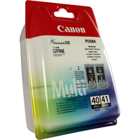 Canon PG-40 & CL-41 Ink Cartridge Rainbow Multi-Pack 0615B036AA-0