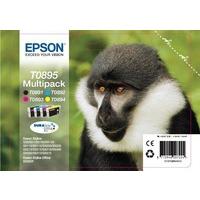Epson T0895 Ink Cartridge Multi KCMY C13T08954010 Pk4-0