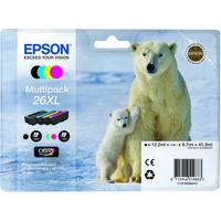 Epson T2636 Ink Cartridge Black Cyan Magenta Yellow C13T26364010-0