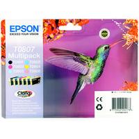 Epson T0807 Ink Cartridge 6-Colour C13T080740 Multipack-0