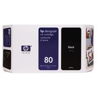 HP C4871A Ink Cartridge Black HPC4871A 80 350ml-0