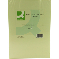Q-Connect Coloured Copier Paper A4 80gsm Yellow Pk500-0