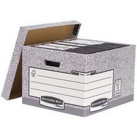 R-Kive Storage Boxes Grey/White System Fellowes 01810-FFLP Pk10-0