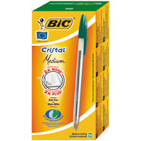 Bic Cristal Ball Point Pen Green 8373629-0