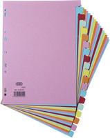 Elba Card Divider A4 20-Part Assorted 100080775-0