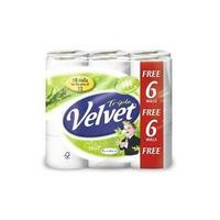 Triple Velvet Toilet Roll Pk18 White-0
