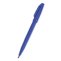 Pentel Sign Pen Fibre-Tipped Blue S520-C Pk12