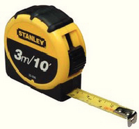 Stanley Retractable Tape Measure With Belt Clip 3 Metre 0-30-686-0