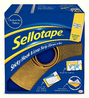 Sellotape Sticky Hook and Loop 6M Strip 4100-0