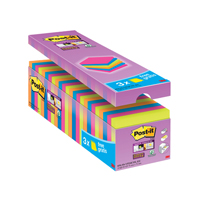 Post-it Notes Super-Sticky 76 x 76mm Assorted Value Pack 654-SS-VP24COL-EU-0