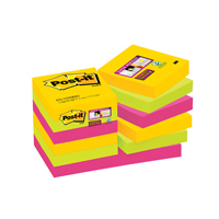 Post-it Notes Super Sticky 47.6 x 47.6mm Rio 622-12SSRIO Pack of 12-0