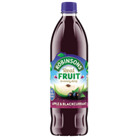 Robinsons Apple/Blackcurrant Squash No Sugar 1 Litre 4158-0