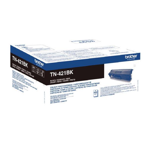 Brother TN421BK Black Laser Toner Cartridge TN421BK-0