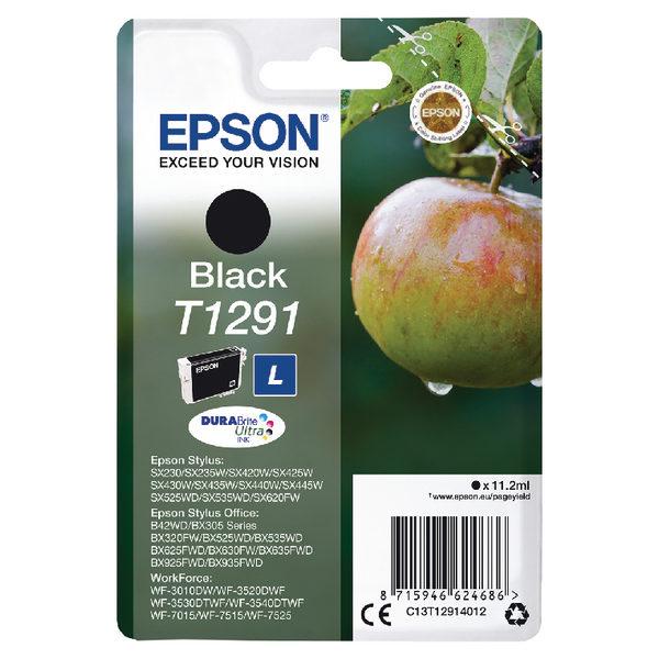 Epson T1291 Black Ink Cartridge C13T12914012-0