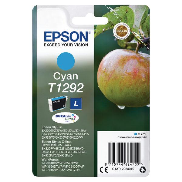 Epson T1292 Cyan Ink Cartridge C13T12924012-0