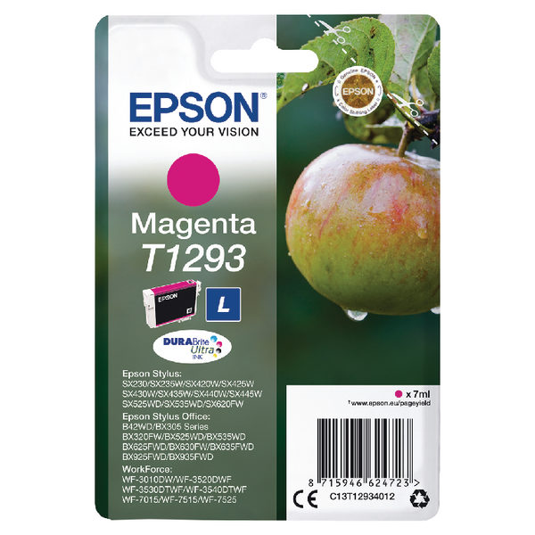 Epson T1293 Magenta Ink Cartridge C13T12934012-0