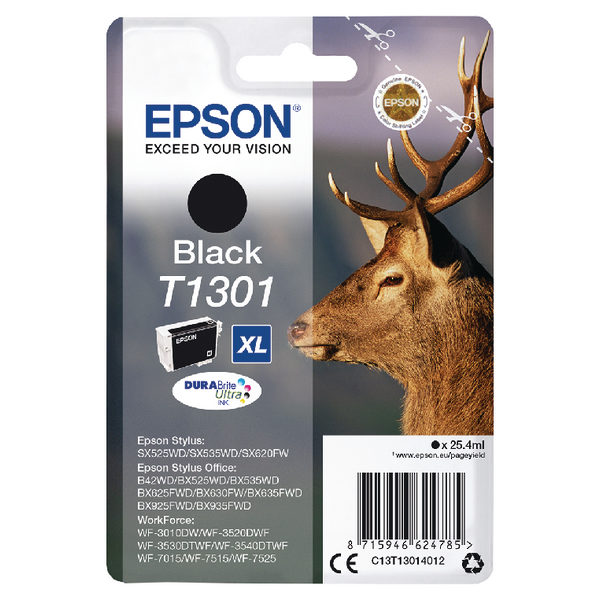 Epson T1301 XHY Black Ink Cartridge C13T13014012-0