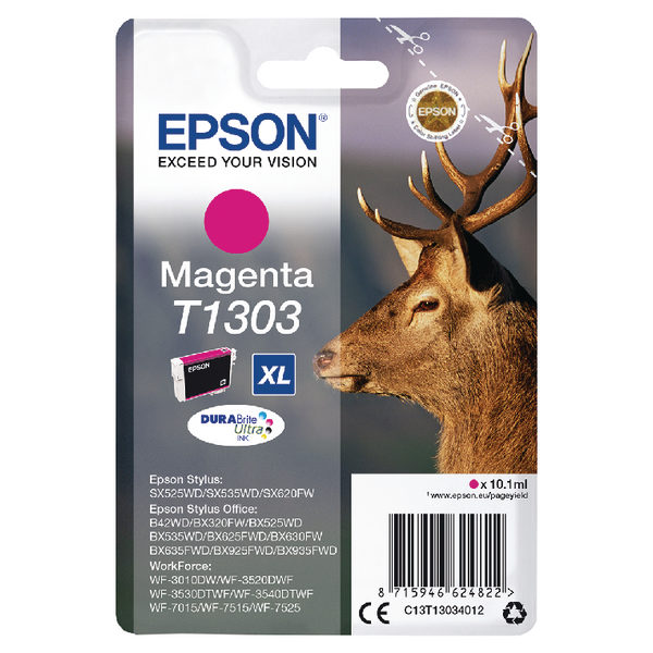 Epson T1303 XHY Magenta Ink Cartridge C13T13034012-0