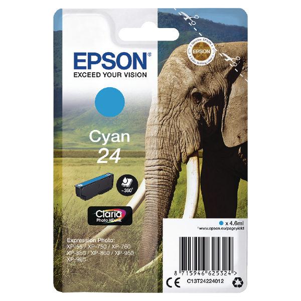 Epson 24 Cyan Ink Cartridge C13T24234012-0