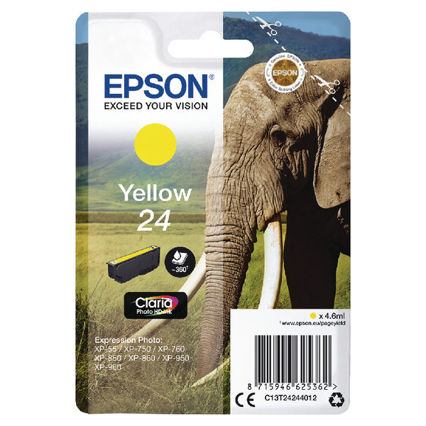 Epson 24 Yellow Ink Cartridge C13T24244012-0