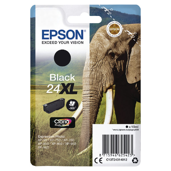 Epson 24XL Black Ink Cartridge C13T24314012-0