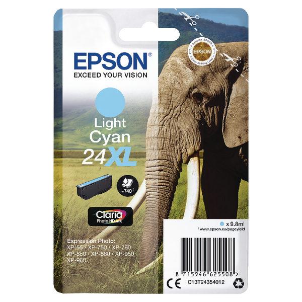 Epson 24XL Light Cyan Ink Cartridge C13T24354012-0