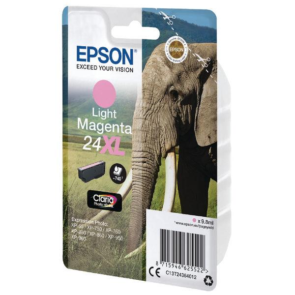 Epson 24XL Light Magenta Ink Cartridge C13T24364012-0