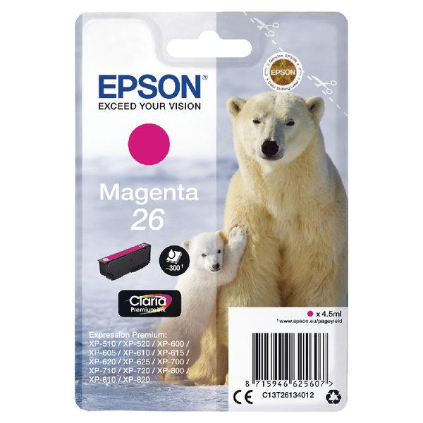 Epson 26 Magenta Ink Cartridge C13T26134012-0