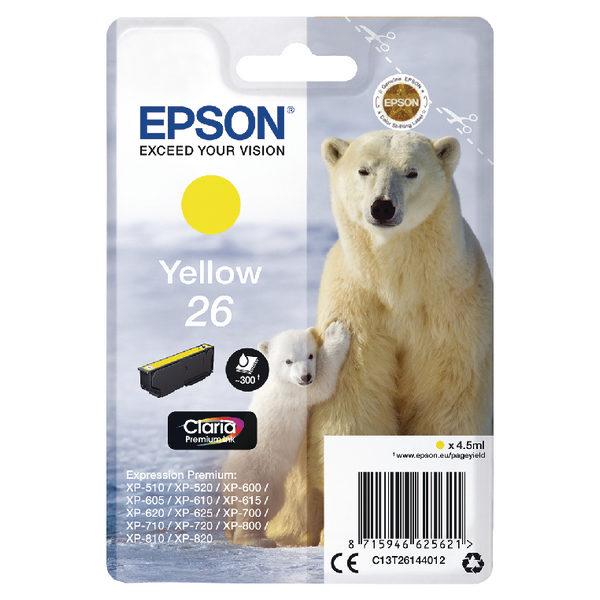 Epson 26 Yellow Ink Cartridge C13T26144012-0