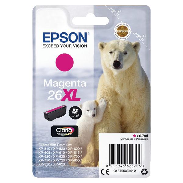 Epson 26XL Magenta Ink Cartridge C13T26334012-0
