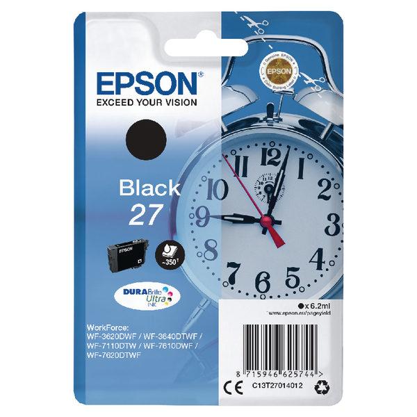 Epson 27 Black Ink Cartridge C13T27014012-0