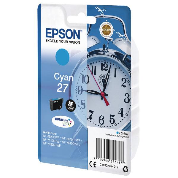 Epson 27 Cyan Ink Cartridge C13T27024012-0