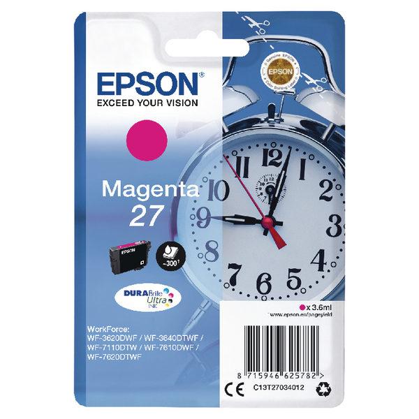 Epson 27 Magenta Ink Cartridge C13T27034012-0