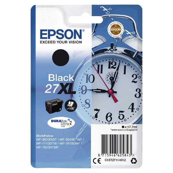 Epson 27XL Black Ink Cartridge C13T27114012-0