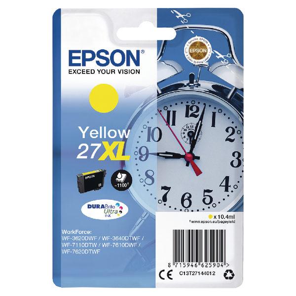 Epson 27XL Yellow Ink Cartridge C13T27144012-0