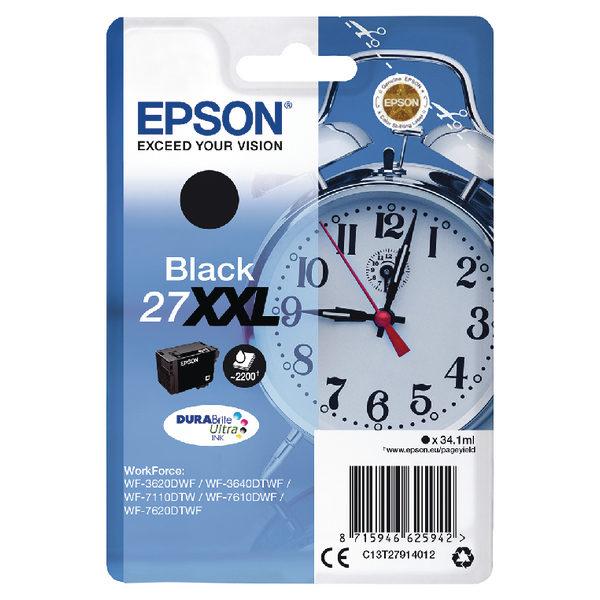 Epson 27XXL Black Ink Cartridge C13T27914012-0