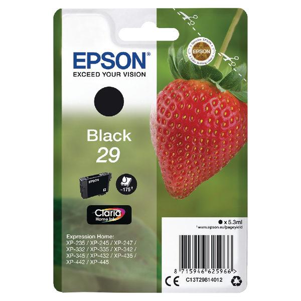 Epson 29 Black Ink Cartridge C13T29814012-0