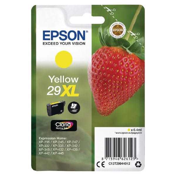 Epson 29XL Yellow Ink Cartridge C13T29944012-0