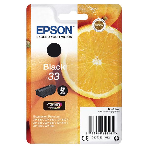 Epson 33 Black Ink Cartridge C13T33314012-0
