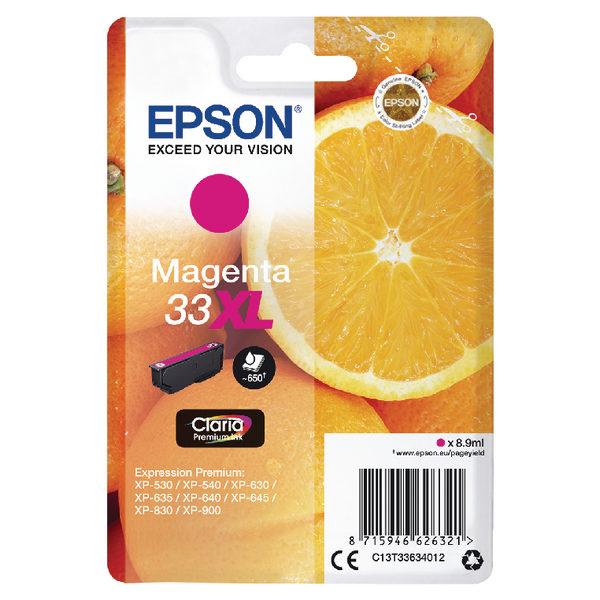 Epson 33XL Magenta Ink Cartridge C13T33634012-0