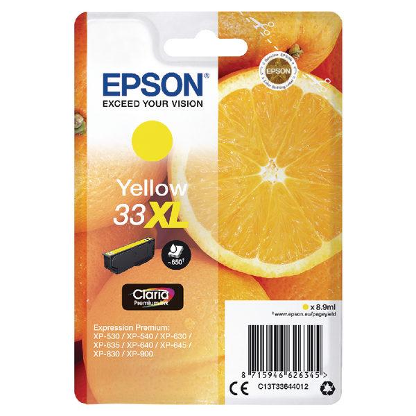 Epson 33XL Yellow Ink Cartridge C13T33644012-0