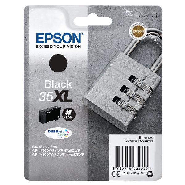 Epson Black 35XL DURABrite Ultra Ink Cartridge-0