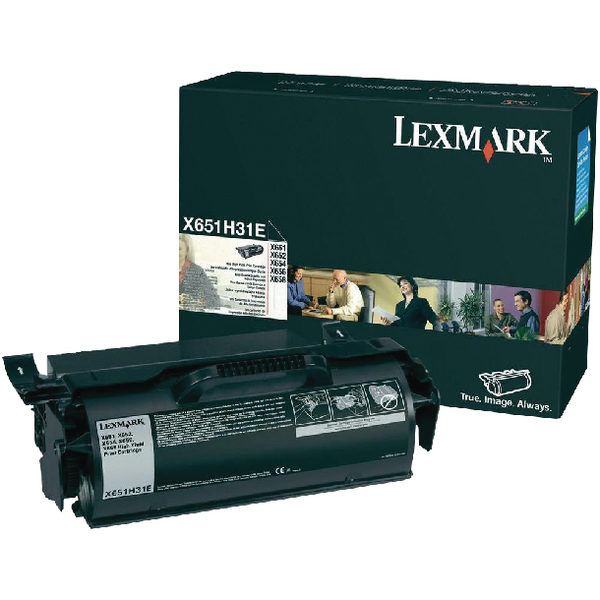 Lexmark X651 Black Return Program Laser Toner Cartridge X651H31E-0