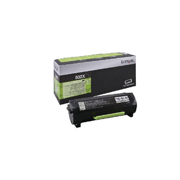 Lexmark 502X Extra High Yield Black Return Program Laser Toner Cartridge 50F2X0E-0