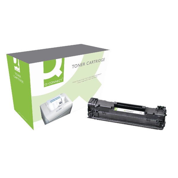 Q-Connect Canon 3484B002 Black Laser Toner Cartridge CRG725-0
