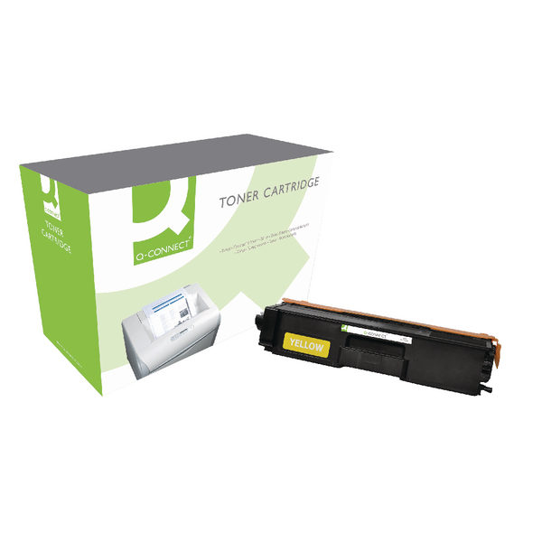 Q-Connect Brother TN321Y Yellow Laser Toner Cartridge-0