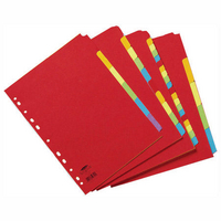 Concord Bright A4 Dividers 5-Part Assorted 50699