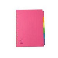 Concord Bright Subject Dividers Extra-Wide 10-Part Assorted 52299 Pk20