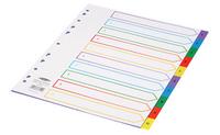 Concord Plastic Index A4 Extra-Wide A4 1-10 Multi-Colour 67199